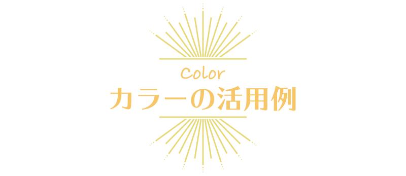 カラーの活用例