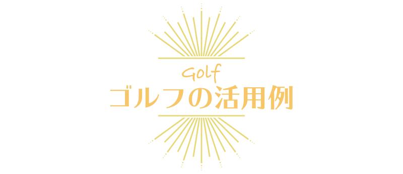 ゴルフの活用例